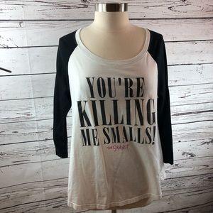 Torrid 3/4 sleeve tee you're killing me smalls 0X